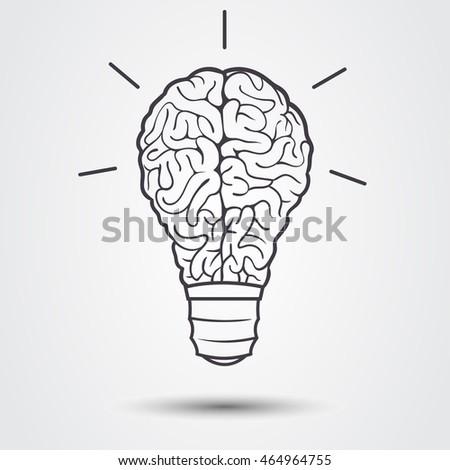 Lamp Brain Stock Vector 464964704 - Shutterstock
