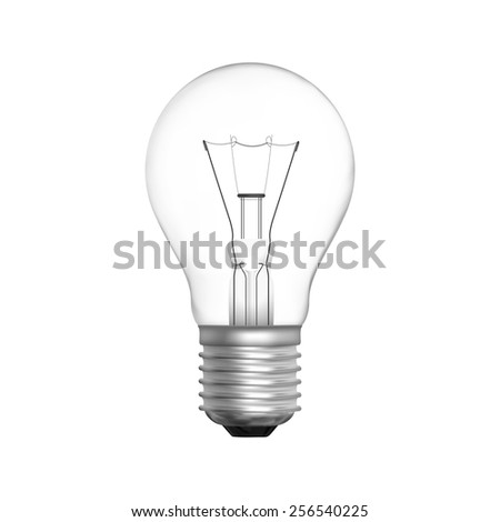 Lamp bulb isolated on white background in vector format - stock vector