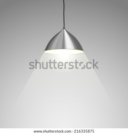 Lamp Hanging. Vector illustration - stock vector