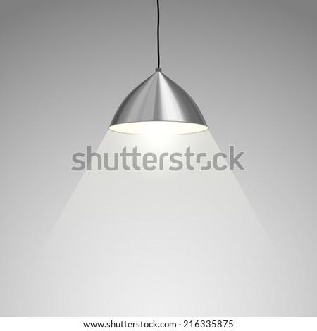 Lamp Hanging. Vector illustration - stock vector