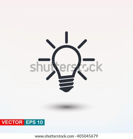 Lamp icon vector - stock vector