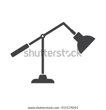 lamp icon Vector Illustration on the white background. - stock vector