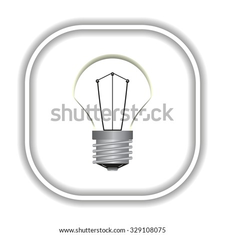 lamp, incandescent bulb. Modern design flat style icon - stock vector