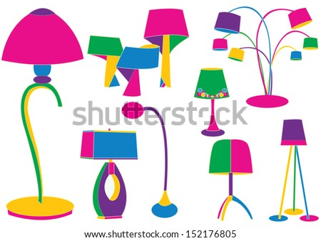 Lamps - stock vector