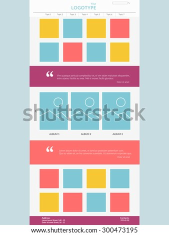 Landing page template. Vector illustration - EPS 10 - stock vector