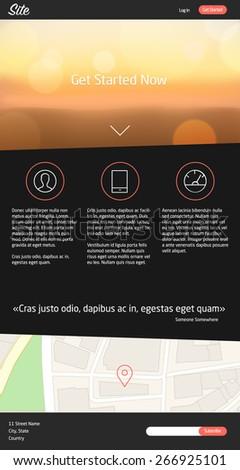 Landing Page Website Design - stock vector
