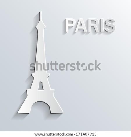 Landmark paper symbol on white background. Vector. - stock vector