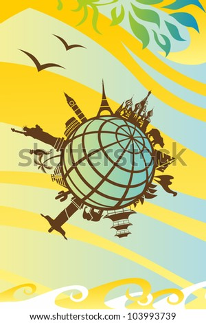 Landmarks around the World - stock vector