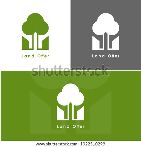 Landscape Architecture Logo For Branding Identity Modern Style Logotype Vectot Image