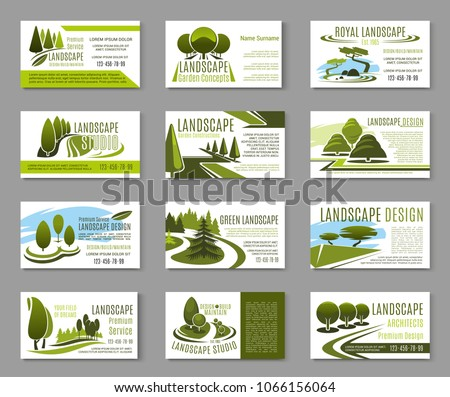 Landscape design studio business card landscaping stock vector hd landscape design studio business card for landscaping gardening and lawn care service template green reheart Choice Image