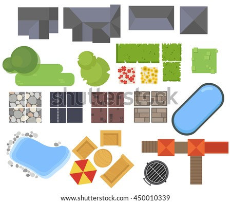 Landscaping stock photos royalty free images vectors for Pool design elements