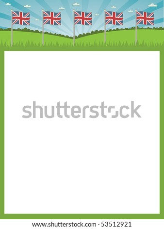 Landscape Frame Background British Flags Ready Stock Vector 53512921 ...