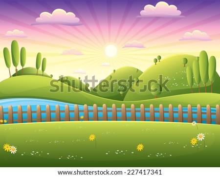 Landscape Vector Illustration - stock vector