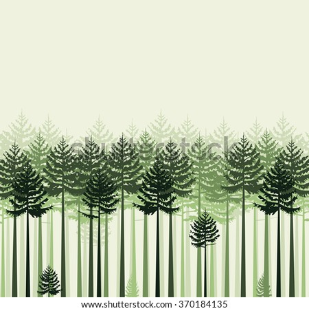 Landscape with trees - stock vector