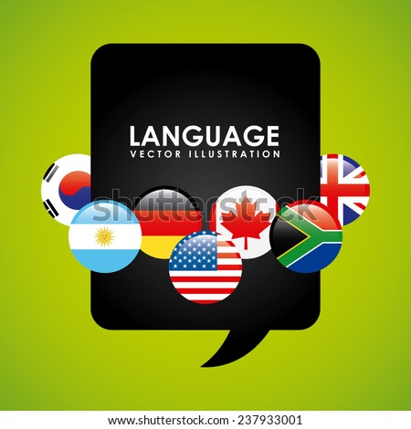 language poster design - stock vector