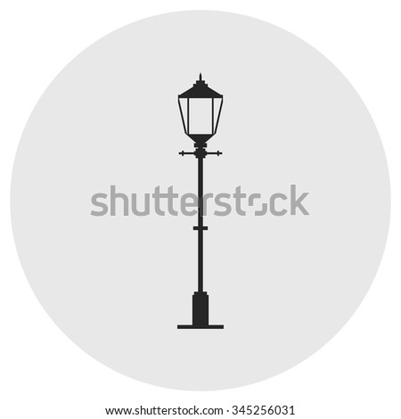 Lantern icon . Vector illustration.