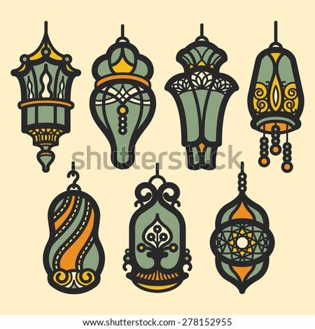 Lantern Ramadan - stock vector