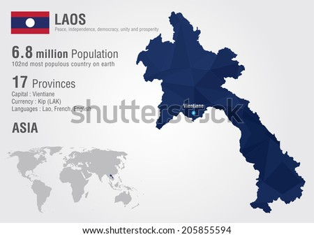 Laos world map pixel diamond texture vector de stock205855594 laos world map with a pixel diamond texture world geography gumiabroncs Choice Image