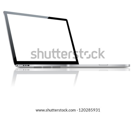 Laptop - stock vector