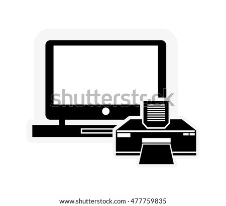 laptop and printer icon
