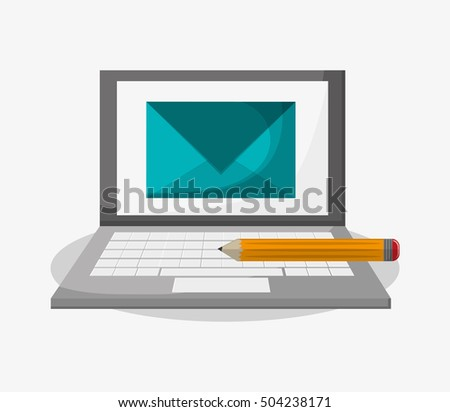 Laptop and social media design