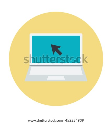 Laptop Colored Vector Icon