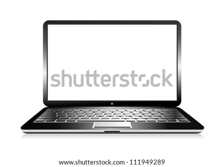 Laptop Computer PC with space for your message - stock vector