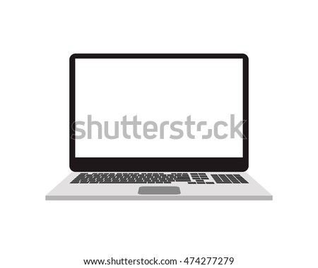 laptop device gadget technology icon. Flat and Isolated design. Vector illustration