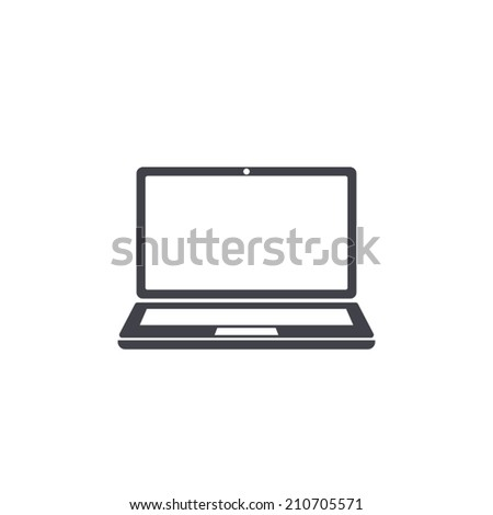 laptop icon , vector illustration - stock vector