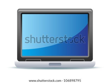 Laptop Illustration - stock vector