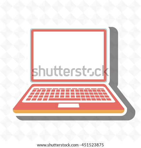 laptop isolated icon design, vector illustration  graphic