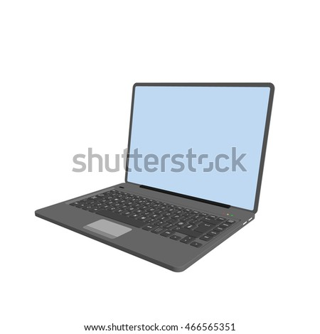 Laptop.Isolated on white background.3d Vector illustration.
