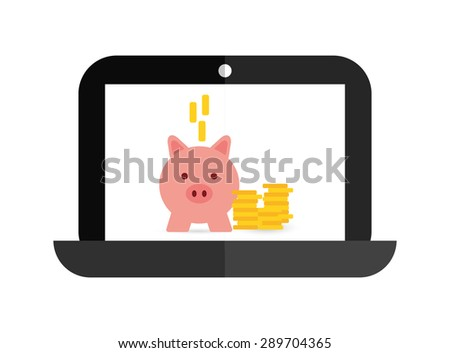 laptop technology design, vector illustration eps10 graphic