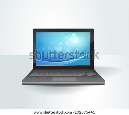 Laptop. Ultrabook - stock vector