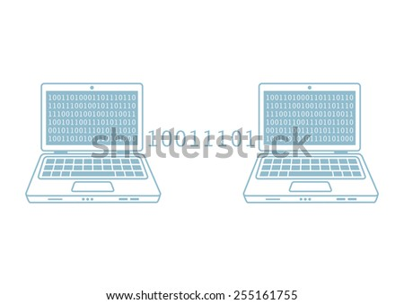 Laptop vector icon on white background