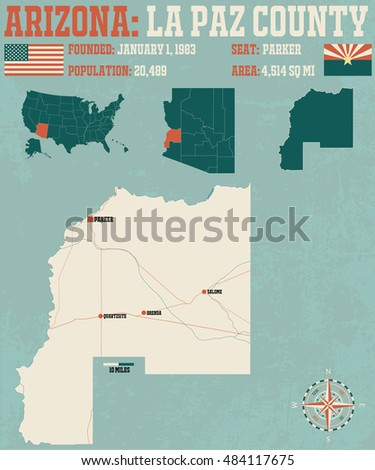 Large Detailed Map Montgomery County Arkansas Stock Vector 578338300