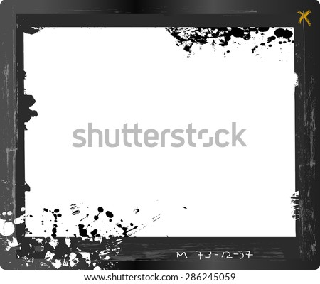 large format glass plate negative, photo frame, ,free copy space, isolated on white background  - stock vector