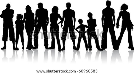 Large group of people - stock vector