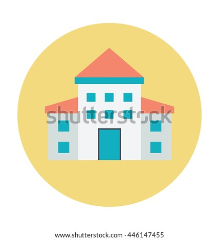 Large Home Colored Vector Illustration