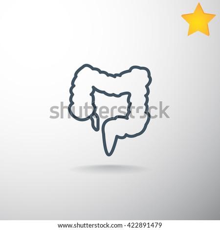 Large intestine icon, Large intestine icon eps, Large intestine icon vector, Large intestine icon, Large intestine icon jpg, Large intestine icon,Large intestine icon flat, Large intestine icon design - stock vector