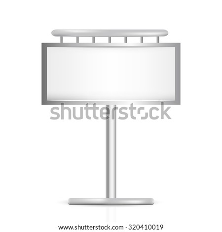 large outdoor blank billboard isolated on white background - stock vector