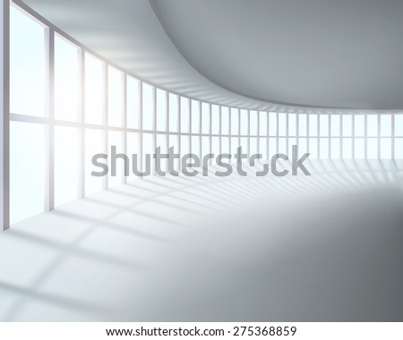 Large room. Vector illustration. - stock vector