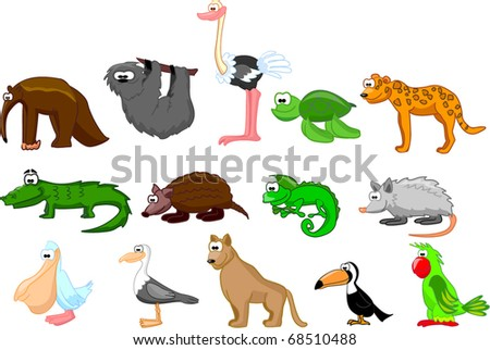 large set of animals of South America eps10 - stock vector