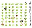 Large set of cool smileys. Vector illustration, isolated on a white. - stock photo