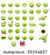 Large set of cool smilies. Vector illustration, isolated on a white. - stock vector