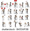 Large set of wedding pictures - stock photo