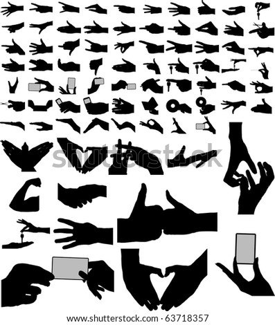 Largest collection of vector arms, hands. - stock vector