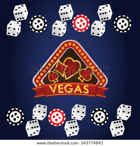 Las Vegas concept with casino icons design, vector illustration 10 eps graphic.