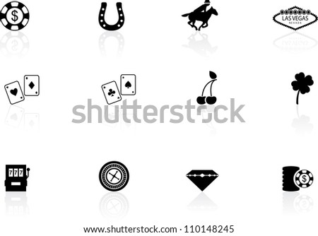 Las Vegas icons - stock vector
