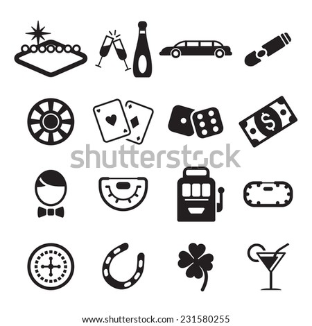 Las Vegas Icons - stock vector